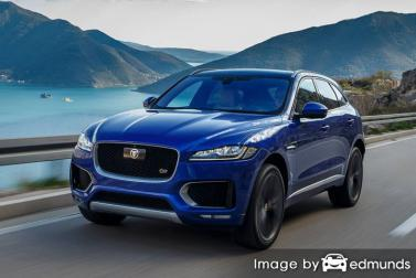 Insurance rates Jaguar F-PACE in Long Beach