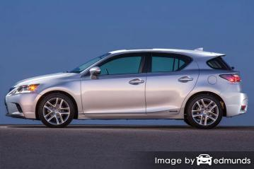 Insurance rates Lexus CT 200h in Long Beach