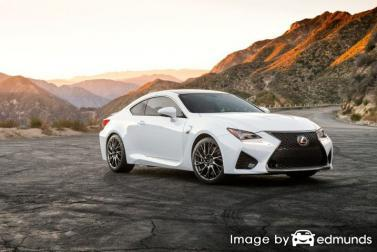 Insurance rates Lexus RC F in Long Beach