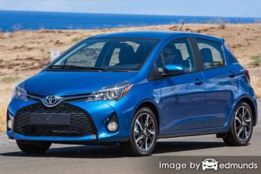 Insurance rates Toyota Yaris in Long Beach